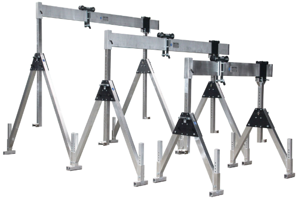 Portable Hydraulic Jib Crane : Portable gantry crane feltes hire rental perth