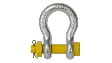 shackle safety pin bow